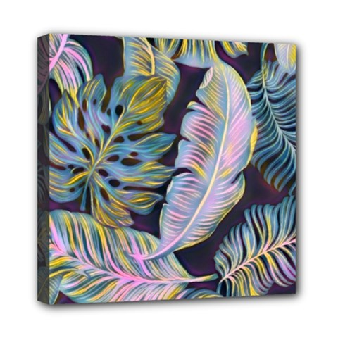 Pretty Leaves 2b Mini Canvas 8  X 8  (stretched) by MoreColorsinLife