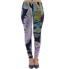 Pretty Leaves 2b Lightweight Velour Leggings