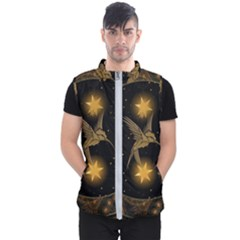 Wonderful Hummingbird With Stars Men s Puffer Vest