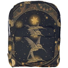 Wonderful Hummingbird With Stars Full Print Backpack by FantasyWorld7