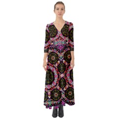 Decorative Candy With Soft Candle Light For Love Button Up Boho Maxi Dress