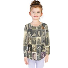 Victorian Ladies Kids  Long Sleeve Tee by snowwhitegirl