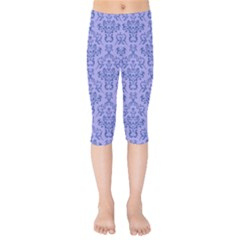 Victorian Blue Ornamental Kids  Capri Leggings