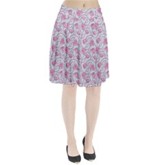 Pink Roses Pattern Pleated Skirt