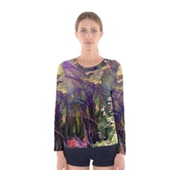Into Woodlands Women s Long Sleeve Tee by bloomingvinedesign