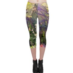 Into Woodlands Capri Leggings  by bloomingvinedesign