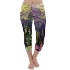 Into Woodlands Capri Winter Leggings  by bloomingvinedesign