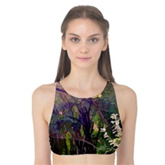 Into Woodlands Tank Bikini Top by bloomingvinedesign