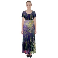 Into Woodlands High Waist Short Sleeve Maxi Dress by bloomingvinedesign