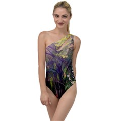 Into Woodlands To One Side Swimsuit by bloomingvinedesign