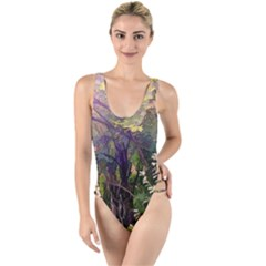 Into Woodlands High Leg Strappy Swimsuit by bloomingvinedesign