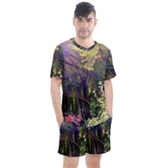Into Woodlands Men s Mesh Tee And Shorts Set by bloomingvinedesign
