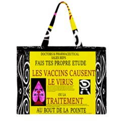 Ronald Story Vaccine Mrtacpans Zipper Large Tote Bag