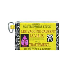Ronald Story Vaccine Mrtacpans Canvas Cosmetic Bag (small)