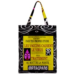 Ronald Story Vaccine Mrtacpans Zipper Classic Tote Bag by MRTACPANS