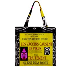 Ronald Story Vaccine Mrtacpans Zipper Grocery Tote Bag