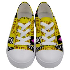 Ronald Story Vaccine Mrtacpans Kids  Low Top Canvas Sneakers