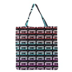 Three Color Ombre Cassette Grocery Tote Bag by snowwhitegirl
