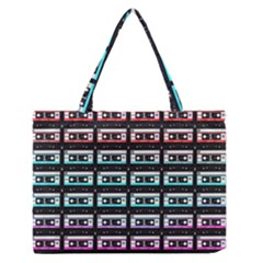 Three Color Ombre Cassette Zipper Medium Tote Bag by snowwhitegirl