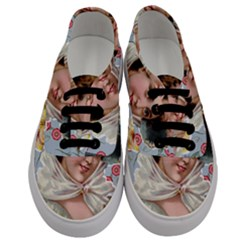 Victorian Lady Blue Floral Men s Classic Low Top Sneakers