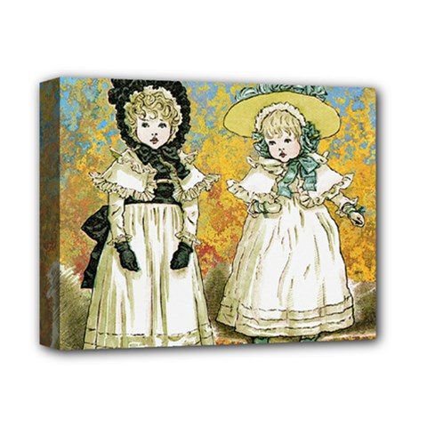 Little Victorian Girls Deluxe Canvas 14  X 11  (stretched) by snowwhitegirl