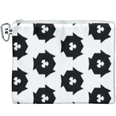 Black And White Pattern Canvas Cosmetic Bag (xxxl) by Simbadda