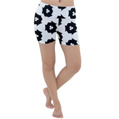 Black And White Pattern Lightweight Velour Yoga Shorts