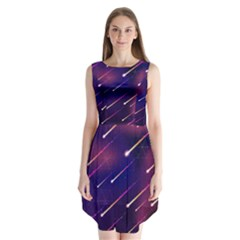 Meteor Shower Sleeveless Chiffon Dress