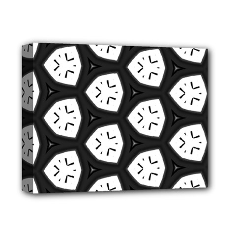 Black And White Deluxe Canvas 14  X 11  (stretched) by Simbadda