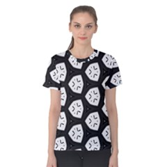 Black And White Women s Cotton Tee