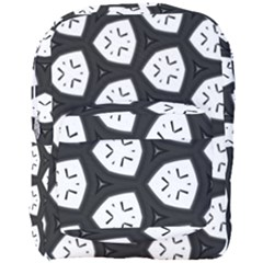 Black And White Full Print Backpack