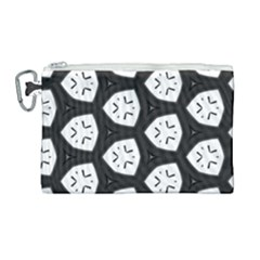 Black And White Canvas Cosmetic Bag (large) by Simbadda