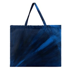 Dark Pulse Zipper Large Tote Bag by JMMMedia