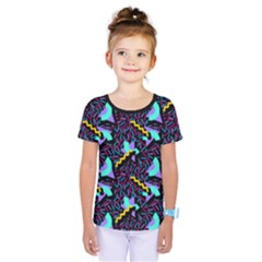 Memphis Style 1 Kids  One Piece Tee