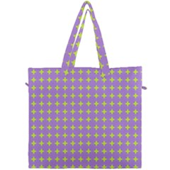 Pastel Mod Purple Yellow Circles Canvas Travel Bag by BrightVibesDesign