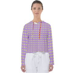 Pastel Mod Purple Yellow Circles Women s Slouchy Sweat