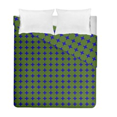 Mod Circles Green Blue Duvet Cover Double Side (full/ Double Size) by BrightVibesDesign