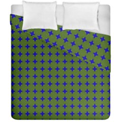 Mod Circles Green Blue Duvet Cover Double Side (california King Size) by BrightVibesDesign