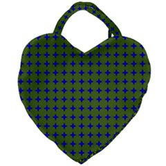 Mod Circles Green Blue Giant Heart Shaped Tote by BrightVibesDesign