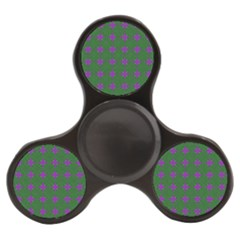 Mod Green Purple Circles Pattern Finger Spinner by BrightVibesDesign