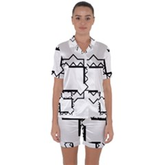 Throne Satin Short Sleeve Pyjamas Set