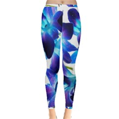 Purple Orchids Inside Out Leggings
