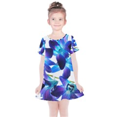 Purple Orchids Kids  Simple Cotton Dress