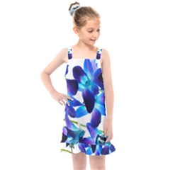 Purple Orchids Kids  Overall Dress