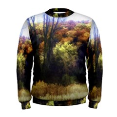 Fall Abstract Landscape Men s Sweatshirt by bloomingvinedesign