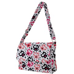 Kooky Kitties Full Print Messenger Bag