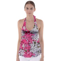 Pink And White Phlox Flowers Babydoll Tankini Top by bloomingvinedesign