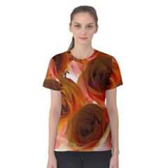 Orange Roses Women s Cotton Tee by bloomingvinedesign