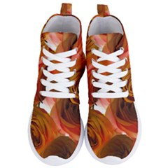Orange Roses Women s Lightweight High Top Sneakers by bloomingvinedesign