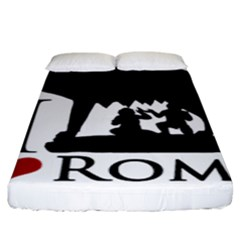 I Love Rome Graphic Icon Fitted Sheet (king Size) by dflcprints